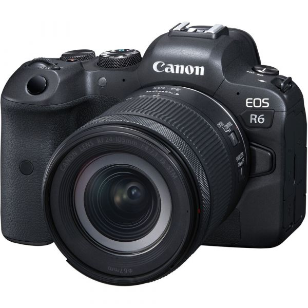Canon EOS R6 Mirrorless Camera with RF 24-105mm f/4-7.1 IS STM Lens (When Bought With Promotion)