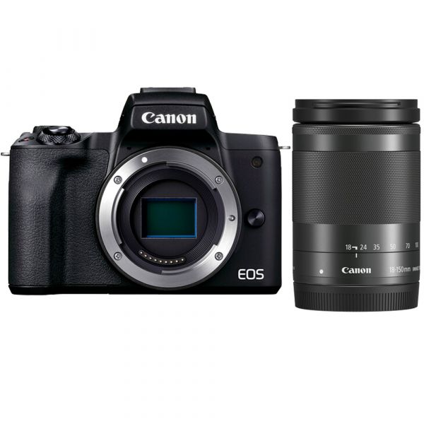 Canon EOS M50 Mark II Mirrorless Digital Camera with EF-M 18-150mm IS STM Lens