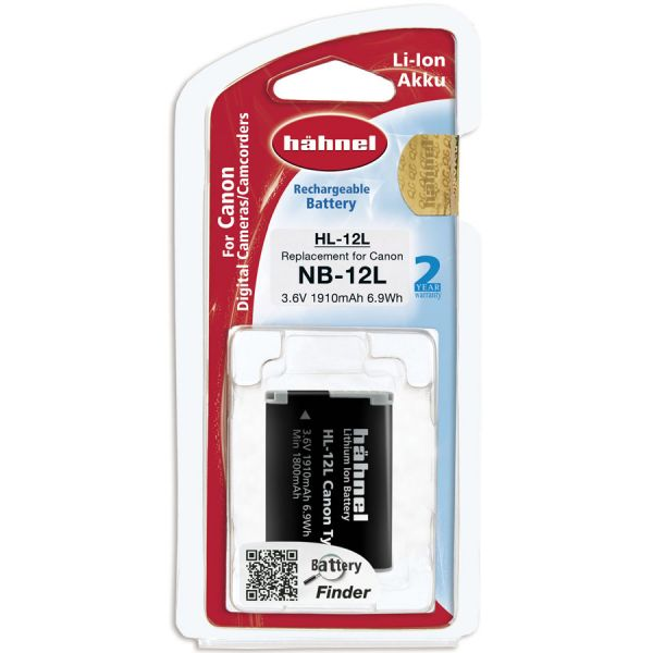 Hahnel HL-12L Lithium Ion Battery for Canon (NB-12L)