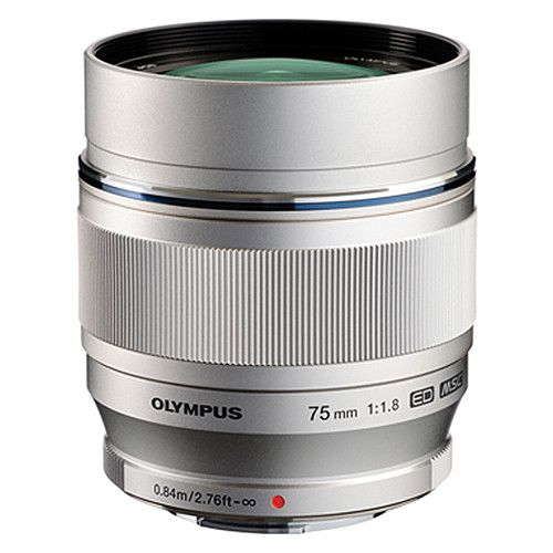 Olympus M.Zuiko Digital ED 75mm f/1.8 Lens (Silver) (MFT) (Online Only. ETA 3-5 Days)