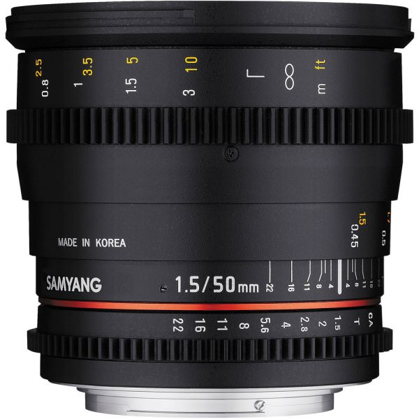Samyang 50mm T1.5 AS UMC Cine Lens (Full Frame Canon EF-Mount)