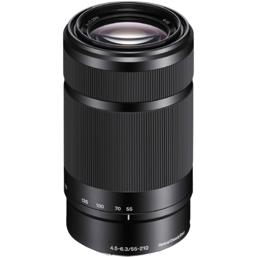 Sony E 55-210mm f/4.5-6.3 OSS Lens - Black (E Mount)