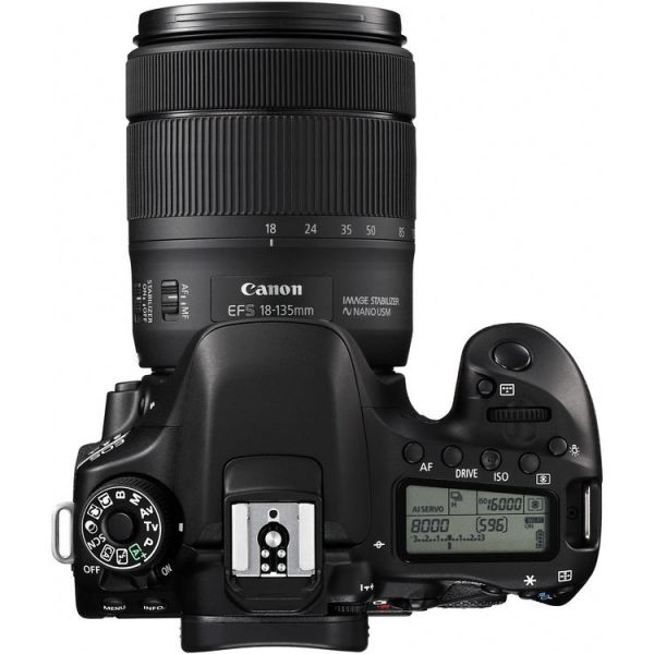 Canon EOS 80D DSLR with 18-135mm f/3.5-5.6 IS USM Lens