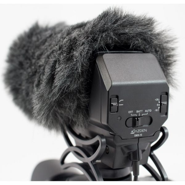 Azden SWS-15 Furry Windshield Cover For SMX-15 Microphone