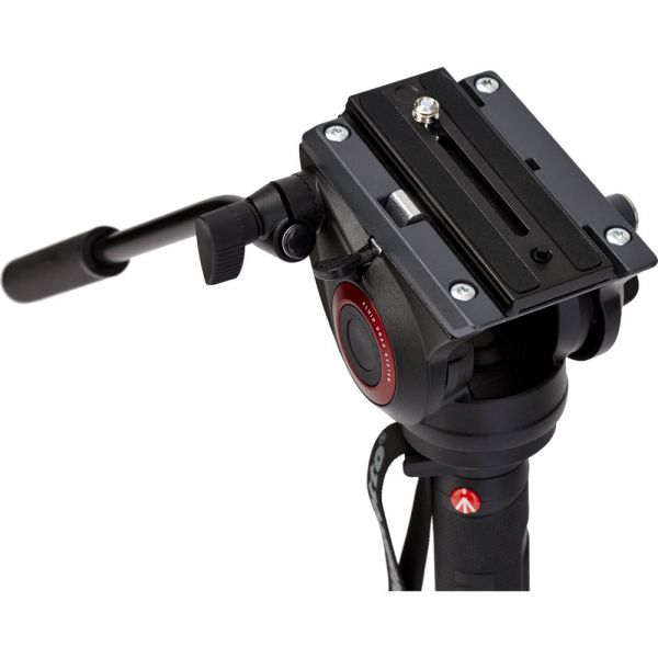 Manfrotto VMXPRO500 4-Section Video Monopod with Fluidtech Base & MVH500AH 2-Way Head