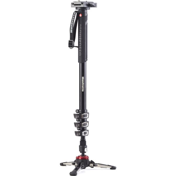 Manfrotto MVMXPROA4577 4-Section Video Monopod with Fluidtech Base & 577 Video Adapter (Backordered)
