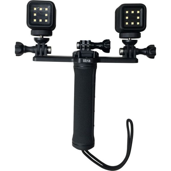 LITRA Triple Mount for Two Torch Lights and GoPro Camera