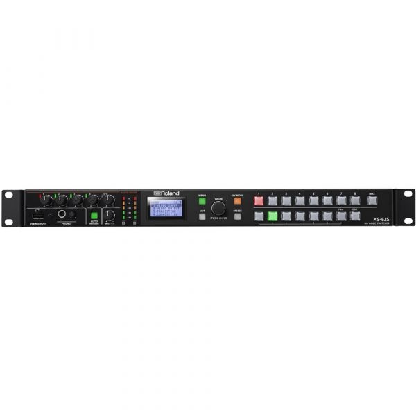 Roland 6-Channel HD Video Switcher with Audio Mixer & PTZ Camera Control (1 RU)