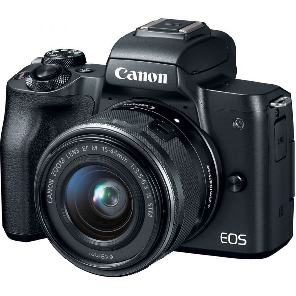 Canon EOS M50 Mirrorless Camera with 15-45mm Lens (Black)