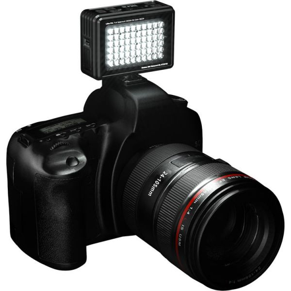 LitraPro Bi-Color On-Camera Light with Dome Diffuser, Shoe Mount & USB Cable