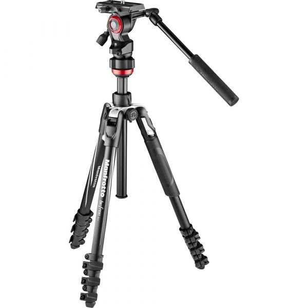 Manfrotto MVKBFRL-LIVE Befree Live Aluminium Lever-Lock Tripod with Befree Live Video Head