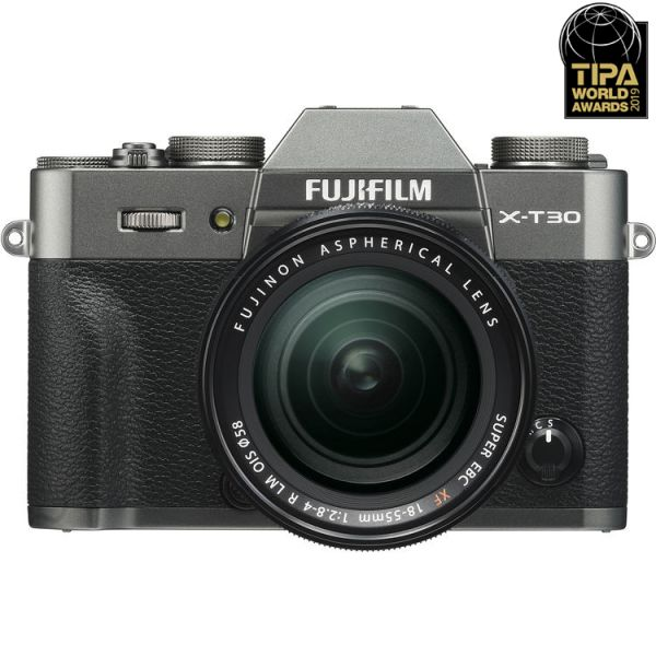 Fujifilm X-T30 Mirrorless Camera with 18-55mm Lens (Charcoal Silver)