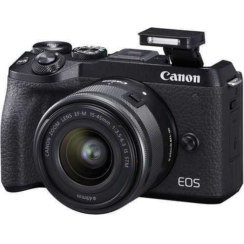 Canon EOS M6 Mark II Mirrorless Digital Camera with 15-45mm Lens and EVF-DC2 Viewfinder