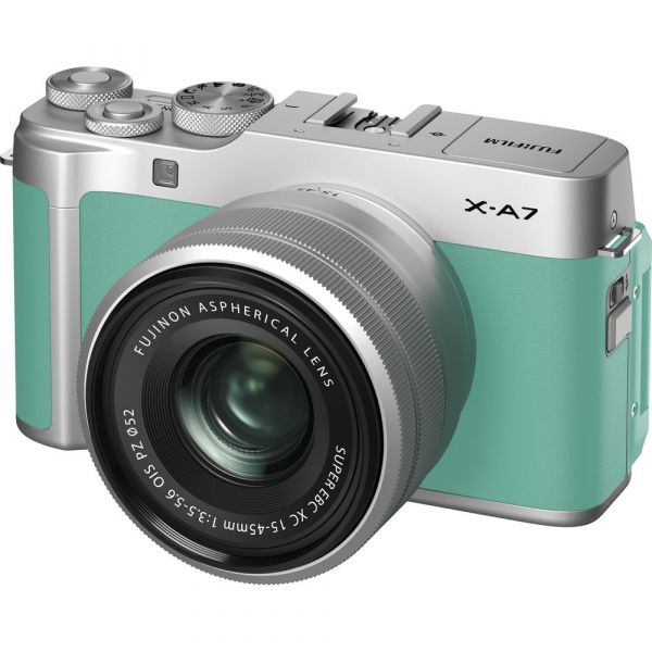 Fujifilm X-A7 Mirrorless Camera with 15-45mm Lens (Mint Green)