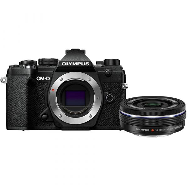 Olympus OM-D E-M5 Mark III Mirrorless Digital Camera with 14-42mm f/3.5-5.6 EZ Lens (Black) (Online Only. ETA 3-5 Days)