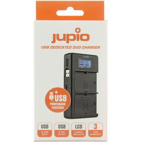 Jupio USB Dedicated Duo Charger for Canon LP-E8 Batteries