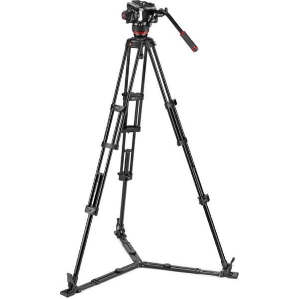 Manfrotto 504X Fluid Video Head & MVTTWINGA Aluminium Tripod with Ground Spreader