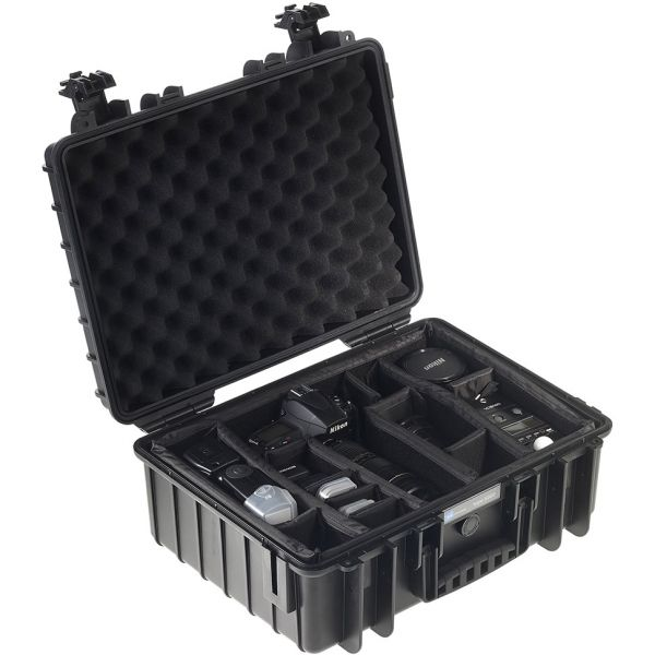 B&W International Type 5000 Outdoor Hard Case with Padded Dividers (Black)