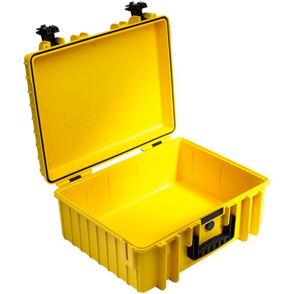 B&W International Type 6000 Outdoor Hard Case with Padded Dividers (Yellow)