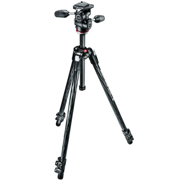 Manfrotto Xtra Carbon Fiber Tripod with 3-Way Head