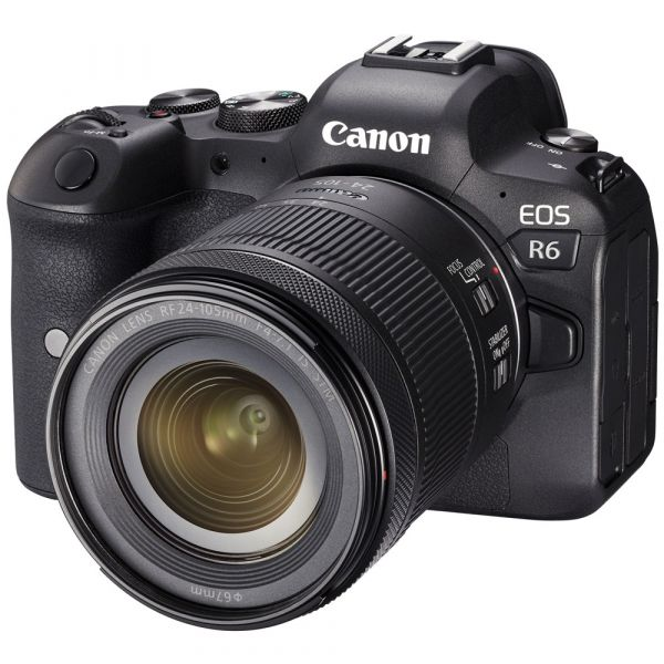 Canon EOS R6 Mirrorless Camera with RF 24-105mm f/4-7.1 IS STM Lens and Free EF-EOS R Mount Adapter