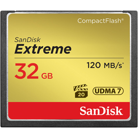 SanDisk 32GB Extreme 120MB/s CompactFlash Memory Card