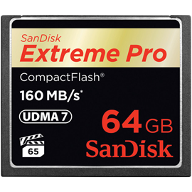 SanDisk 64GB Extreme Pro 160MB/s CompactFlash Memory Card