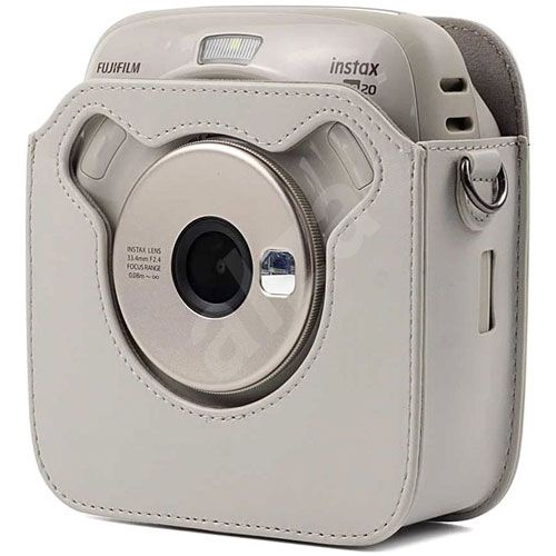 FUJIFILM INSTAX SQUARE SQ20 Hybrid Instant Camera with 16GB MSD Card and Case (Beige)