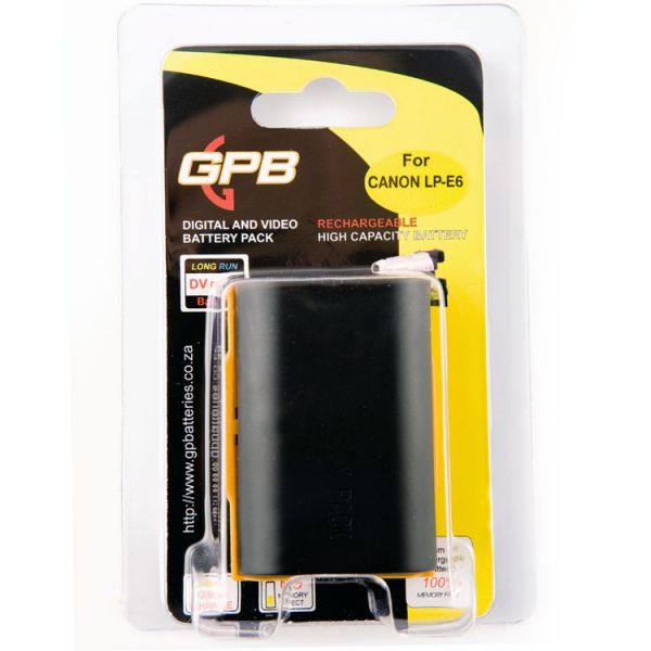 GPB Battery for Canon LP-E6 and LP-E6N
