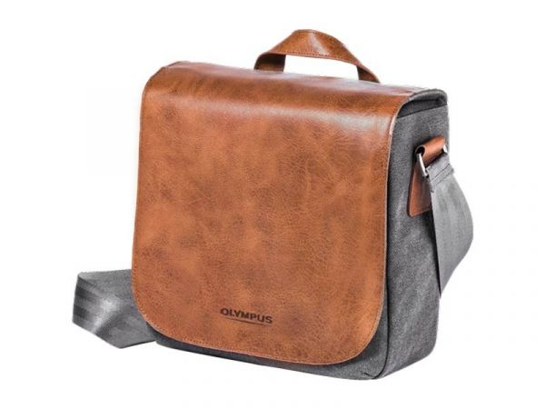 Olympus OM‑D Leather and Canvas Messenger Bag (Mini) (Online Only. ETA 3-5 Days)