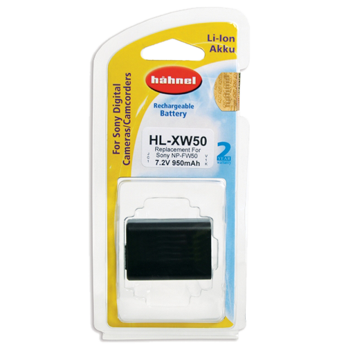 Hahnel HL-XW50 Lithium Ion Battery for Sony (NP-FW50)
