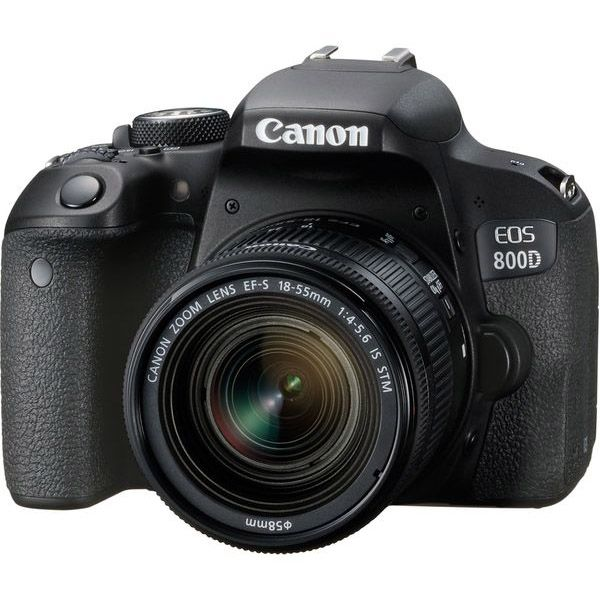 Canon EOS 800D DSLR with 18-55mm f/4-5.6 IS STM Lens