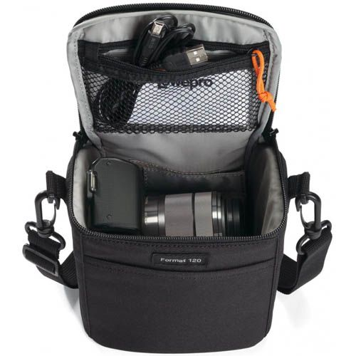 Lowepro Format 120 Camera Shoulder Bag (Black) (Discontinued)