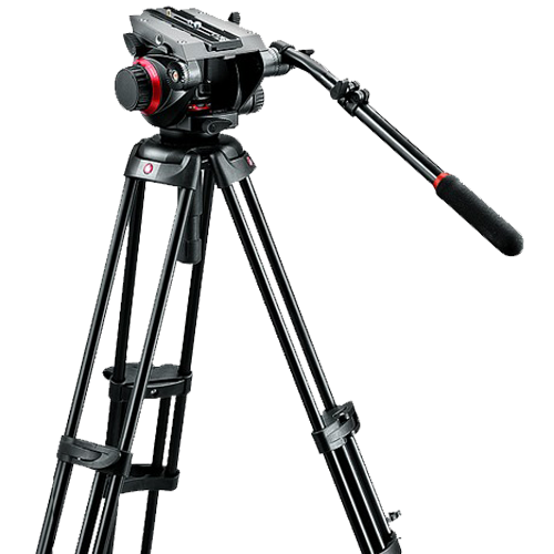 Manfrotto 504HD + 546GBK + Ground Spreaders Pro Video Tripod Kit