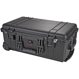 Pelican 1510 Carry On Case (Black) with Pick 'N Pluck Foam