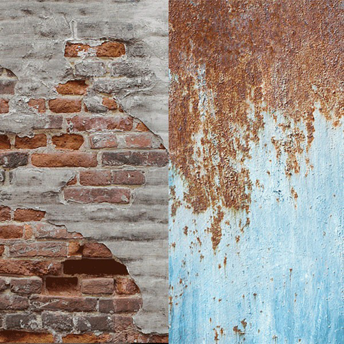 Lastolite 5713 Urban Collapsible Background 1.5 x 2.1m Rusty Metal/Plaster Wall