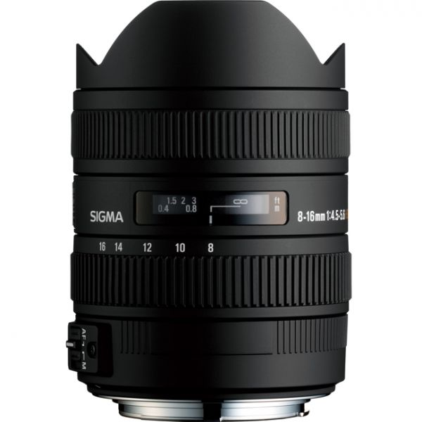 Sigma 8-16mm f/4.5-5.6 DC HSM Lens (Nikon F) (Discontinued)