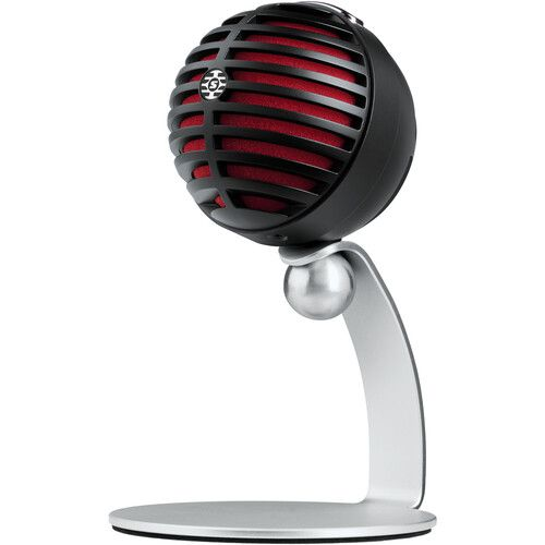 Shure MOTIV MV5 Cardioid USB/Lightning Microphone for Computers and iOS Devices - Black