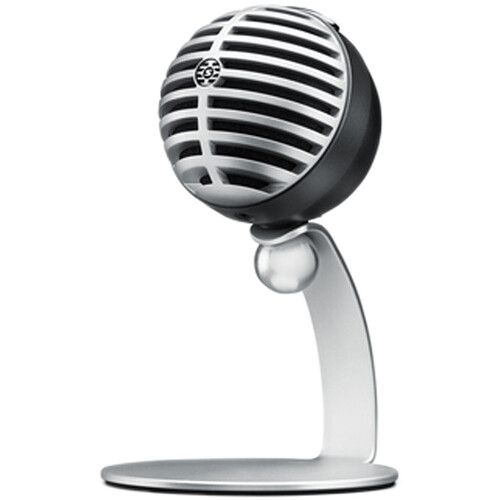 Shure MOTIV MV5 Cardioid USB/Lightning Microphone for Computers and iOS Devices - Silver