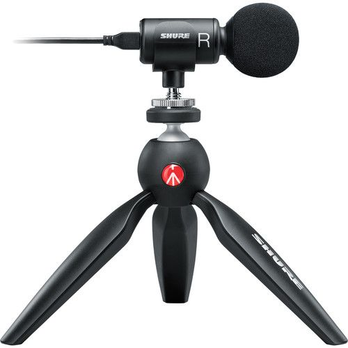 Shure MOTIV MV88+ Video Kit Digital Stereo Microphone and Accessories for Smartphones