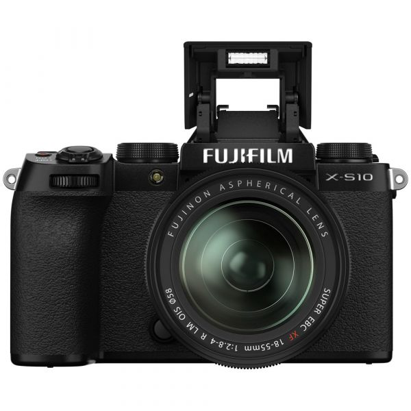Fujifilm X-S10 Mirrorless Digital Camera with 18-55mm Lens with Free NP-W126S Battery Pack (Black)
