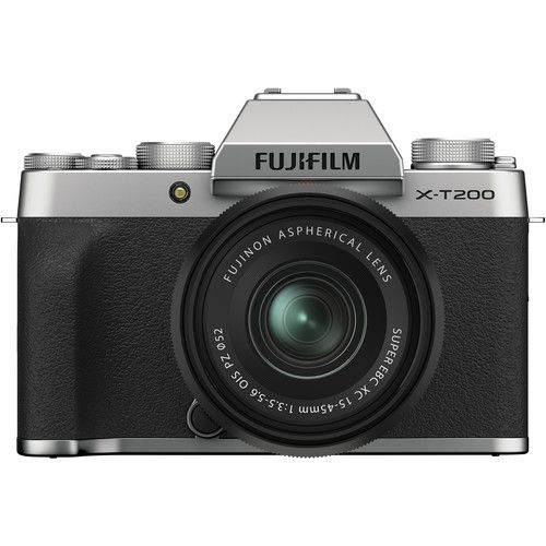 Fujifilm X-T200 Mirrorless Digital Camera with 15-45mm Lens (Silver)