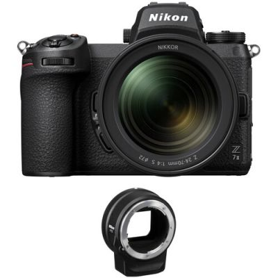Nikon Z 7II Mirrorless Digital Camera with 24-70mm f/4 Lens with FTZ Adapter