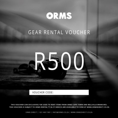 Orms Rental Voucher - R500 (Can Only be Used for Renting Gear with Orms)