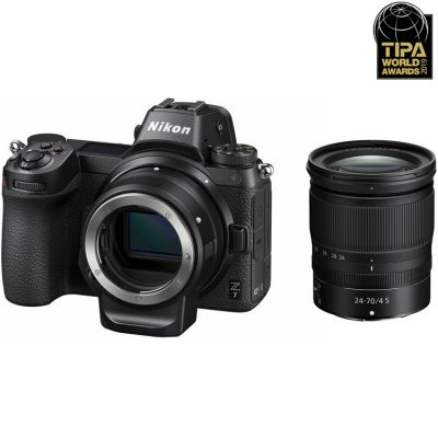 Nikon Z7 Mirrorless Digital Camera with 24-70mm lens and FTZ Adapter