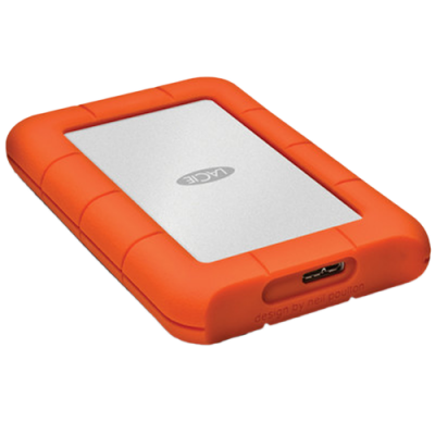 LaCie Rugged 1TB Mini External Hard Drive - USB3.0
