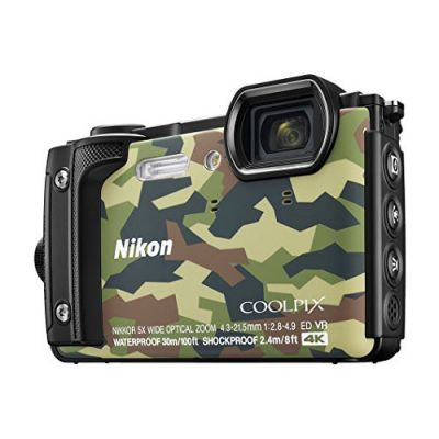 Nikon Coolpix W300 Waterproof Camera  with Free Floating Strap (Camo)
