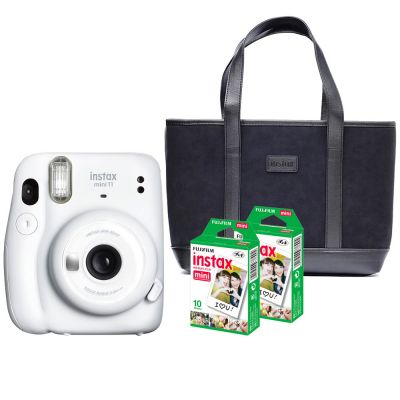 Fujifilm Instax Mini 11 Instant Film Camera Combo with Free Suede Handbag (Valued at R449) (Ice White)