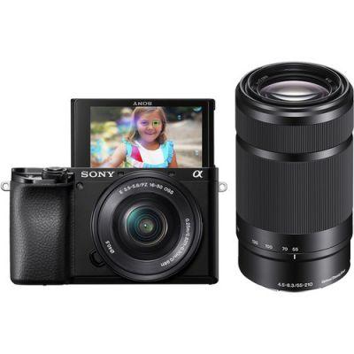 Sony Alpha a6100 Mirrorless Digital Camera with 16-50mm and 55-210mm Lenses