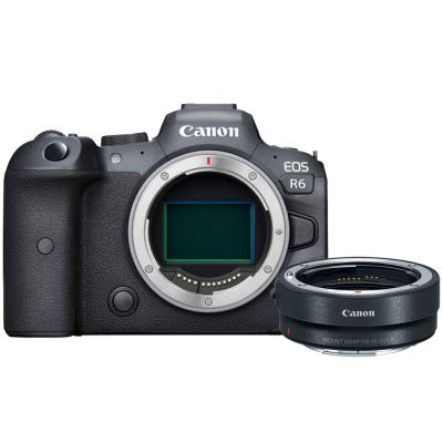 Canon EOS R6 Mirrorless Camera Body with Free EF-EOS R Mount Adapter